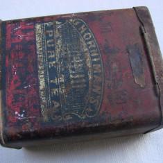 Cutie englezeasca de ceai din perioada interbelica - Cutie Reclama