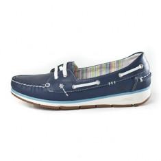 Pantofi Grisport din piele naturala (GR5508V12) - Balerini dama Grisport, Culoare: Bleumarin, Marime: 39