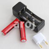 Set 2 Baterii Acumulator 3,7 V Li-ion 5800 mAh + incarcator priza dublu