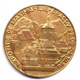 MEDALIE EXPOZITIA DE MAXIMAFILIE BRASOV 1986 ANUL INTERNATIONAL AL PACII BALCANMAX ISTORIE NUMISMATICA PACE - Medalii Romania