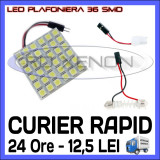 BEC AUTO LED LEDURI PLACUTA PLAFONIERA - 36 SMD - SOFIT FESTOON C5W C10W T10 W5W, Universal, ZDM