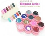 Geluri colorate set gel lampa uv color 12 culori CANNI Elegant Series, Gel colorat