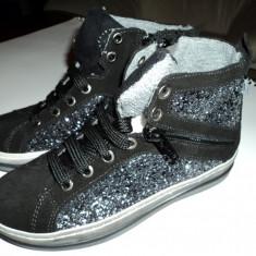 Pantofii Copii Melania, Noi in Cutie !!! Marimea 31 - Ghete copii Melania, Culoare: Negru, Fete, Piele naturala