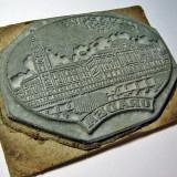 Rara Matrita/sigiliu/stampila din zinc tipografic - orasul Oradea