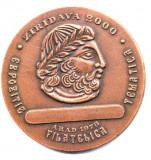 MEDALIE  EXPOZITIE FILATELICA ZIRIDAVA 2000  ARAD 1978 FILATELIE DECEBAL DACIA