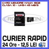 Cumpara ieftin CARD MEMORIE HAMA MICRO SDHC 16GB UHS-I 45 MB/S CLASA 10 + ADAPTOR SD