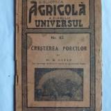 M. GATAN, CRESTEREA PORCILOR, BIBLIOTECA AGRICOLA, 1942, LUGOJ, CU AUTOGRAF