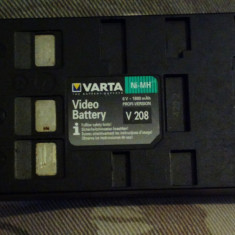 Baterie camera varta video battery v 208 6V 1800 mAh Panasonic, JVC Sharp Fuji - Baterie Camera Video Altele