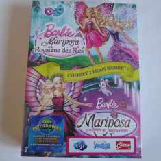 Pachet sigilat 2 filme Barbie Mariposa - Franceza, Engleza - Film animatie universal pictures, DVD