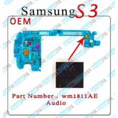 IC audio Samsung S3 i9300 i9305 WM1811AE - Circuit integrat telefon mobil