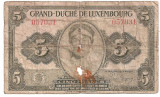 LUXEMBURG 5 FRANCI FRANCS ND (1944) U