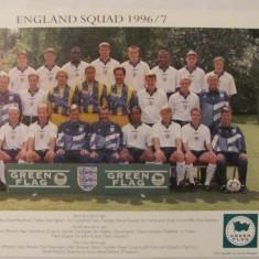CY - Nationala (reprezentativa) Anglia 1996 / 1997 foto cu autografe (tiparite)