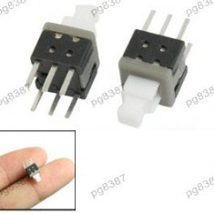 Push buton 6x6 mm, cu retinere - 124500