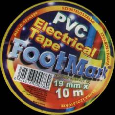 Banda izolatoare FootMark 10 metri diverse culori banda izoliera