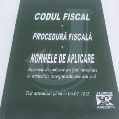 CODUL FISCAL CU NORMELE DE APLICARE  ACTUALIZAT PÂNĂ LA 06.02.2012