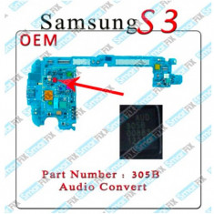 IC audio Samsung S3 i9300 i9305 AUD305B - Circuit integrat telefon mobil