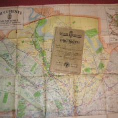Planul Unirea - Municipiul Bucuresti si imprejurimile (2 planse, 1:15.000 si 1:200.000)