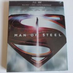 Man of Steel : DVD + Blu-Ray  (Nou,Sigilat), BLU RAY, Engleza