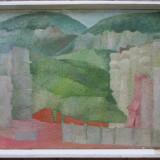 Constructii la Herculane - semnat Petru Galis 1976 - Pictor roman