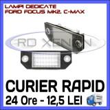 SET LAMPI DEDICATE FORD FOCUS MK2, FORD FOCUS C-MAX - LAMPA PLACUTA NUMAR INMATRICULARE - 18 LED LEDURI SMD - CULOARE ALB XENON 6000K, ZDM