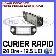SET LAMPI DEDICATE FORD FOCUS MK2, FORD FOCUS C-MAX - LAMPA PLACUTA NUMAR INMATRICULARE - 18 LED LEDURI SMD - CULOARE ALB XENON 6000K ZDM, Universal