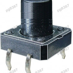 Push buton 12x12mm, inaltime 15mm - 124406