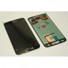 Display Samsung S5 ORIGINAL albastru negru G900 G900F ecran lcd touchscreen - Display LCD
