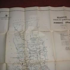 HARTA CAILOR DE COMUNICATIE DIN JUDETUL ARGES IN ANUL 1903