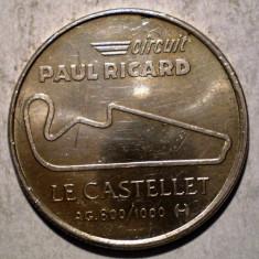 F.169 JETON FRANTA AUTO CIRCUIT PAUL RICARD 1970 1990 ARGINT 3, 27g - Jetoane numismatica