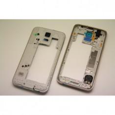 Rama Samsung S5 ORIGINALA silver G900 G900F carcasa mijloc
