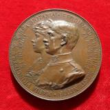 MEDALIA / PLACHETA CASATORIA PRINCIPELUI FERDINAND CU MARIA, 1893. UNC.