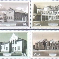 S. W. AFRICA 1985 - BAHNHOF WINDHOEK 4 VALORI, NEOBLITERATE - AS 104