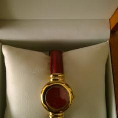 Ceas dama Emile Pequignet placat cu aur, Lux - elegant, Quartz, Piele, Analog
