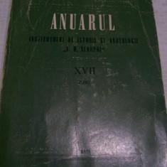 ANUARUL INSTITUTULUI DE ISTORIE SI ARHEOLOGIE A.D.XENOPOL XVII, Alta editura