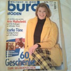 REVISTA MODA ~ BURDA  Nr. 10/1996 ( cu tipare + insert cu traducerea in limba romana a revistei )