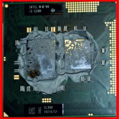 Procesor laptop Intel i5-520M SLBNB 2, 4 GHz Turbo cu garantie, Intel 2nd gen Core i5, 2500- 3000 Mhz, Numar nuclee: 2, G2