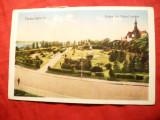 Ilustrata Turnu Severin - Vedere din Parcul Rozelor 1932 Ed.Libr.Maurice Loewenstein T.Severin