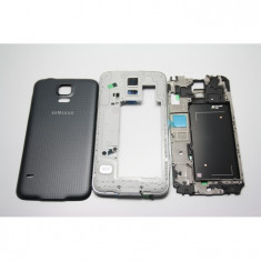 Carcasa Samsung S5 ORIGINALA neagra G900 G900F completa