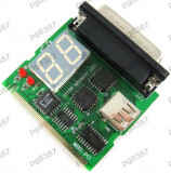Placa defectiuni PC, Laptop, debug card,placa diagnoza PC Mini PCI/USB/Parallel - 13672
