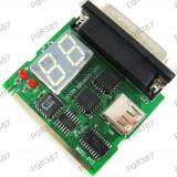 Placa defectiuni PC, Laptop, debug card, placa diagnoza PC Mini PCI/USB/Parallel - 13672