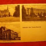 Ilustrata Turnu Severin - 3 Vederi- 1936, Libr. Gh. Stefanescu - Carte Postala Banat dupa 1918