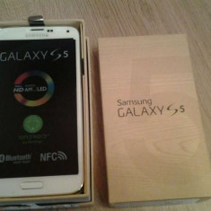 Samsung Galaxy S 5 - Telefon mobil Samsung Galaxy S5, Alb, Neblocat