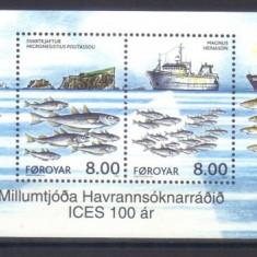 FEROE 2002, Pescuit - Fauna, serie neuzata, MNH