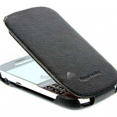Husa BlackBerry Touch 9900 Hoco Flip Piele Negru - Husa Telefon