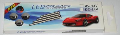 Lumini de zi LED waterproof 9W - 24LED-uri/bara, cod:10100193 foto