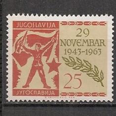 Iugoslavia.1963 20 ani intalnirea de la Avnoj SI.341 - Timbre straine