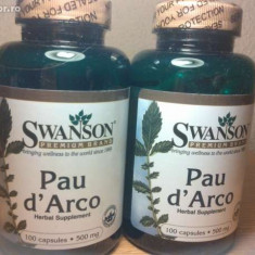 PAU D'ARCO, 500 mg, 100 capsule, anticancerigen, cel mai bun pret in Romania! - Supliment nutritiv