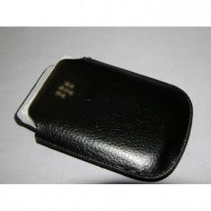 Husa BlackBerry 9700 9780 - Husa Telefon Blackberry, Negru, Piele Ecologica, Saculet