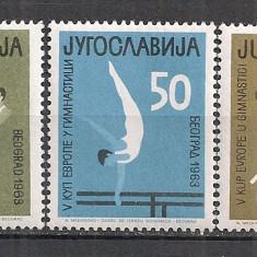 Iugoslavia.1963 C.E. de gimnastica SI.337 - Timbre straine