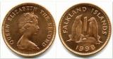 Falkland Islands 1 pence 1998 UNC pinguin